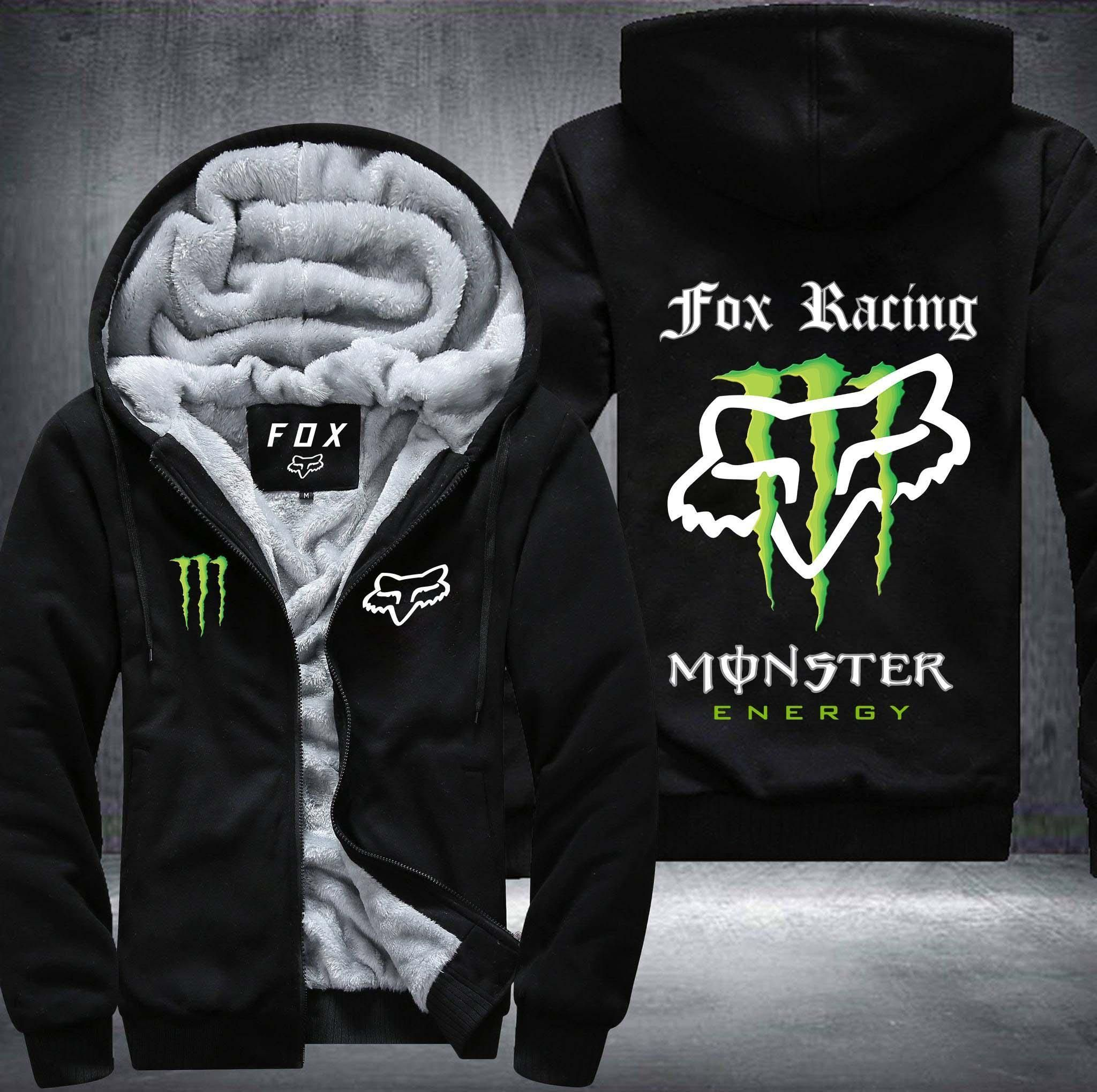 Fox Racing Global Fleece Mens Hoody Zip Blk All Sizes