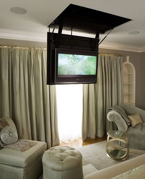 secret hatch reveals bedroom tv fernseher w nde und ideen. Black Bedroom Furniture Sets. Home Design Ideas