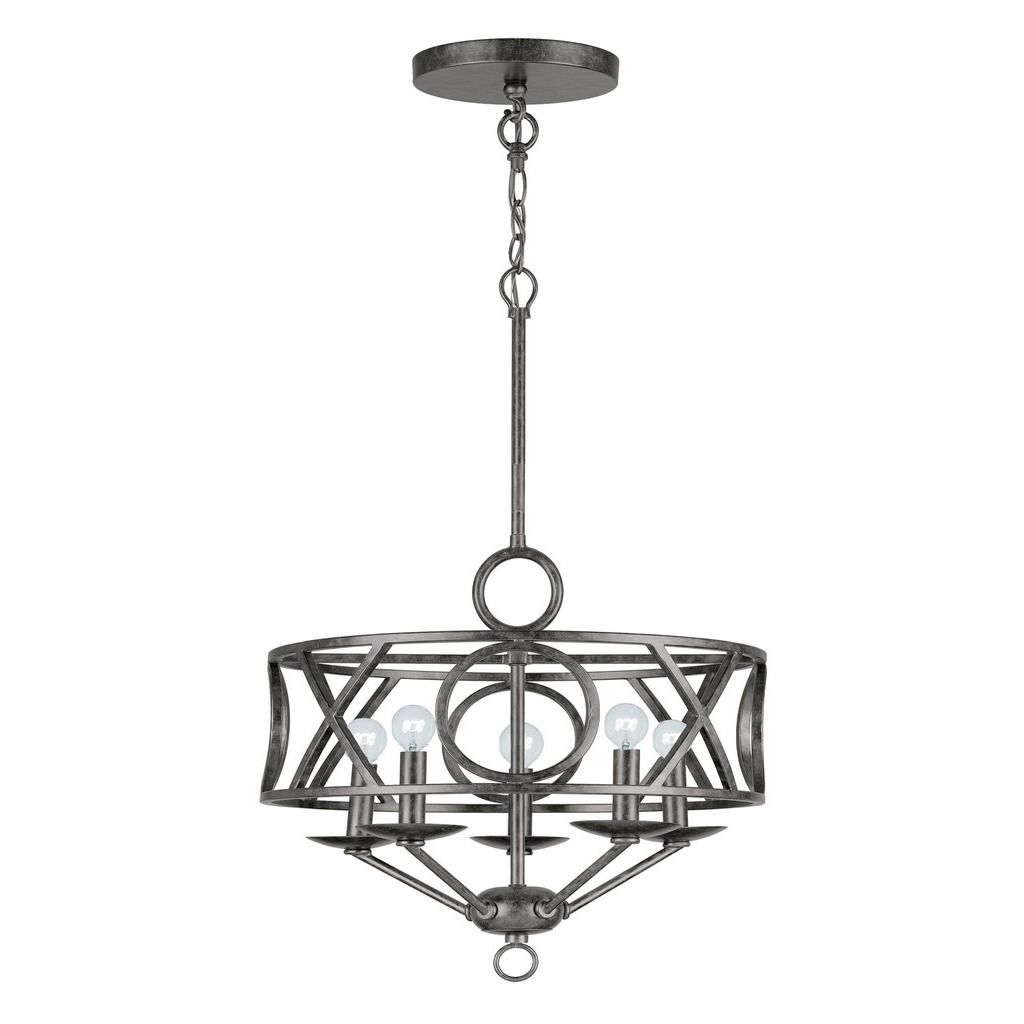 Crystorama Odette Collection 5-light English Bronze Mini Chandelier