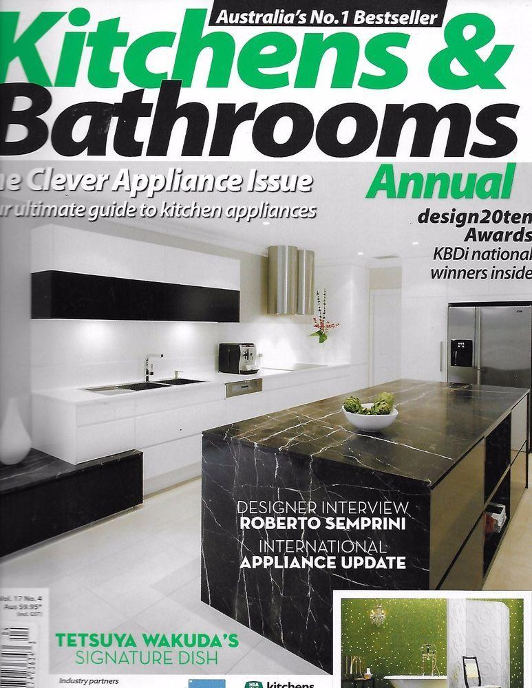 Photo Album Website Kitchens and Bathrooms magazine Appliance annual issue Designers Signature dish