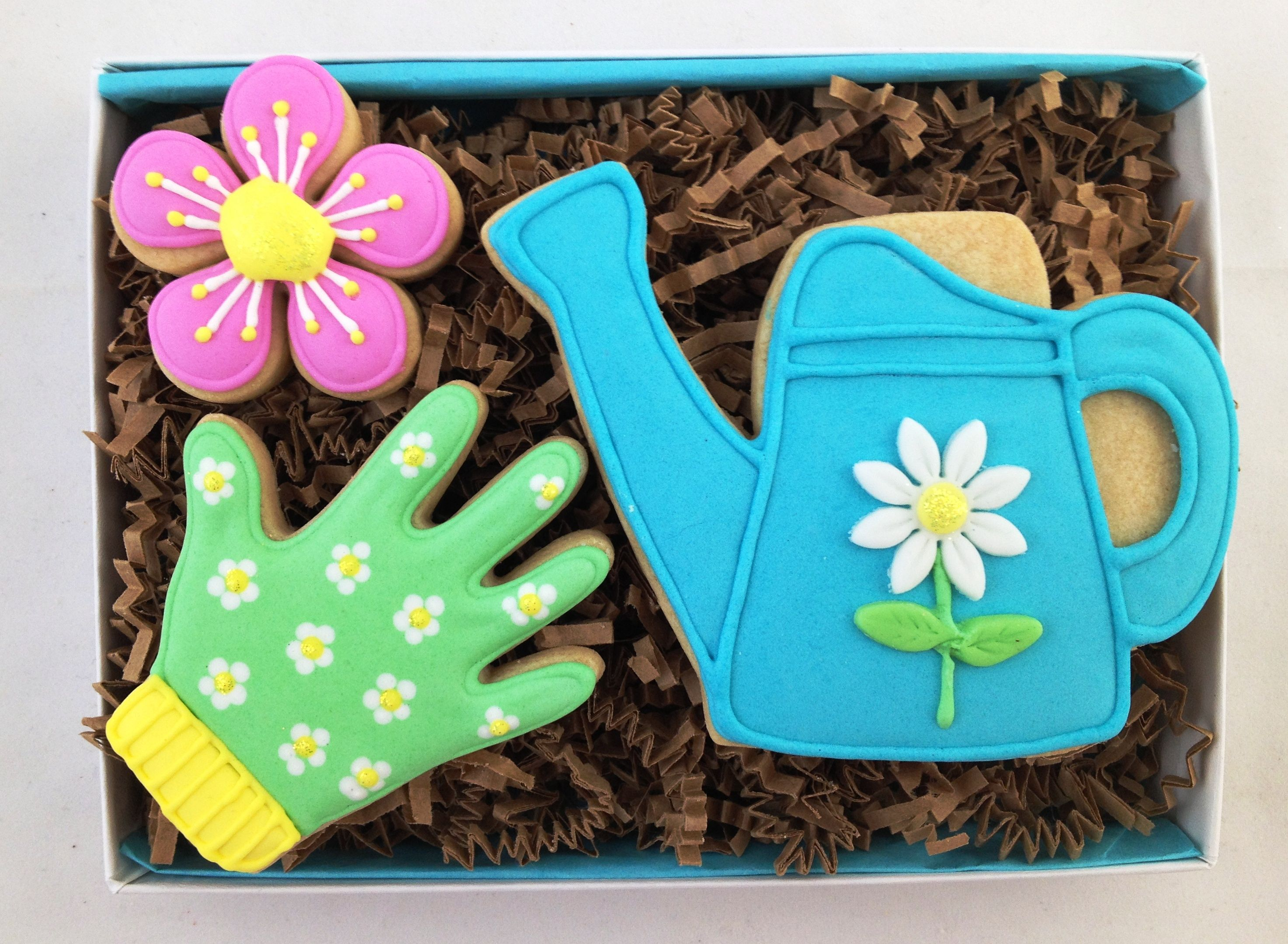 Garden cookies - For all your cake decorating supplies, please visit craftcompany.co.uk