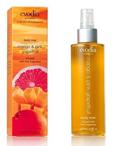 Evodia Australia Luxury Bath and Body Spray, Body Mist,Fresh Fragrance, Fresh Scent,Fresh & vibrant - 100% authentic, Spa Experience & Quality, Refreshing Formula, Spray on for a sexy touch of scent, Long-lasting scent, Best women's fragrances, Hottest new fragrances, Free from parabens and harsh chemicals - No animal testing - Recyclable packaging (Mango & Pink Grapefruit) - http://www.theperfume.org/evodia-australia-luxury-bath-and-body-spray-body-mistfresh-frag