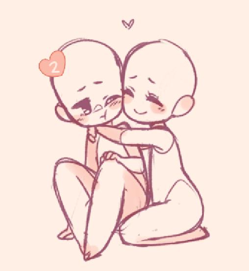 It A Really Cute Hug Chibi Drawings Drawing Reference Poses Drawing Base