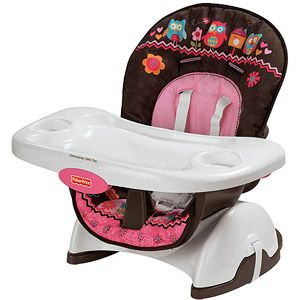 Fisher Price Pink Owl Spacesaver High Chair Top Baby Products