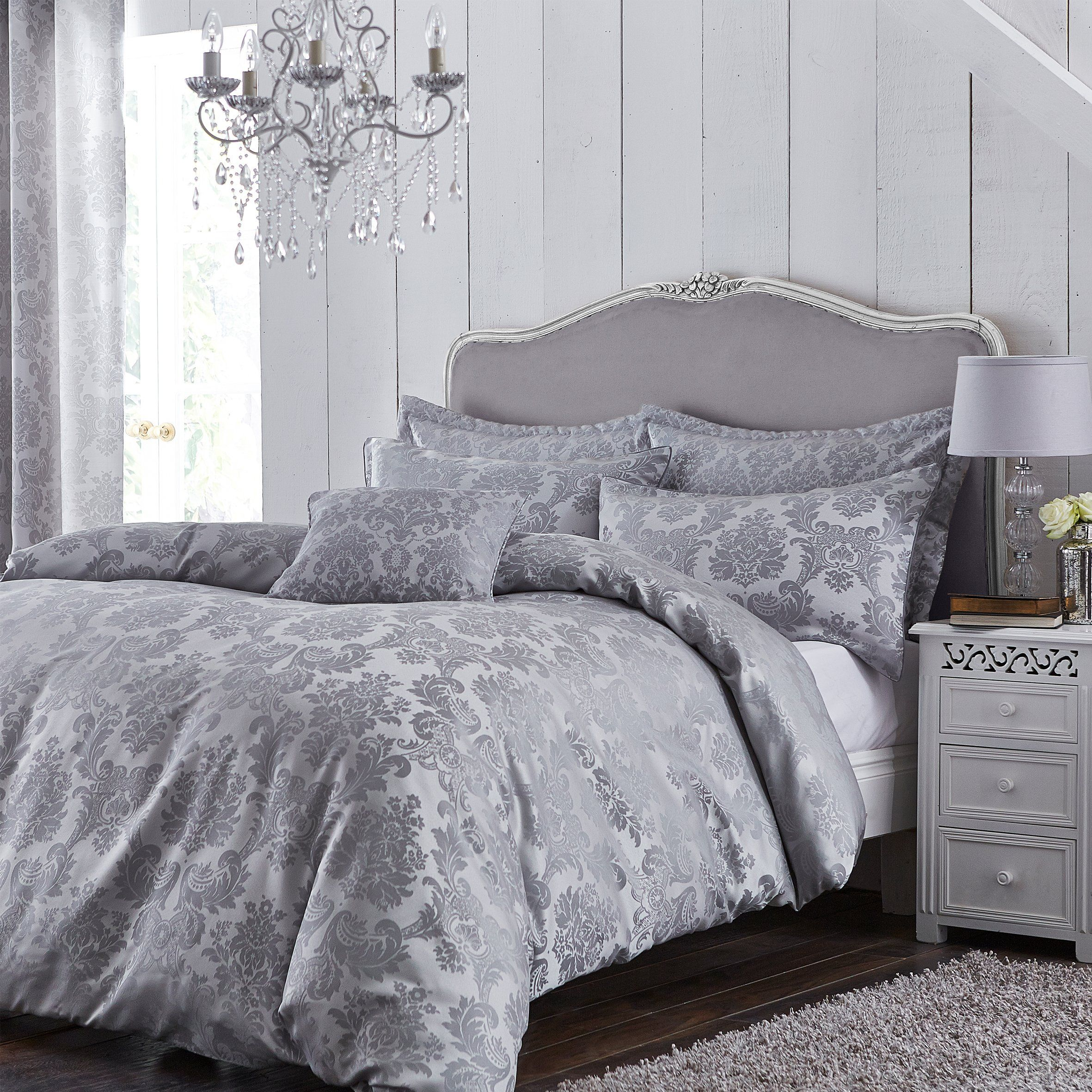 Pin about Silver bedding on DECOR/HOME WISH LIST