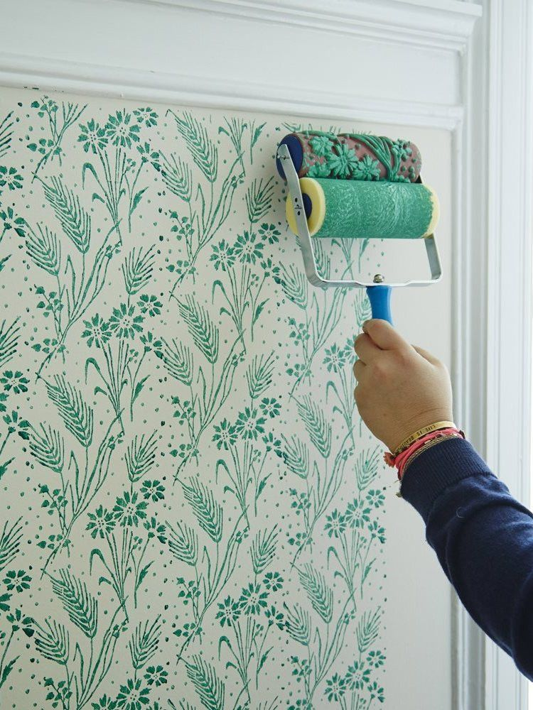 Patterned Paint Roller With Handle Wall Paint Designs Patterned Paint Rollers Paint Roller