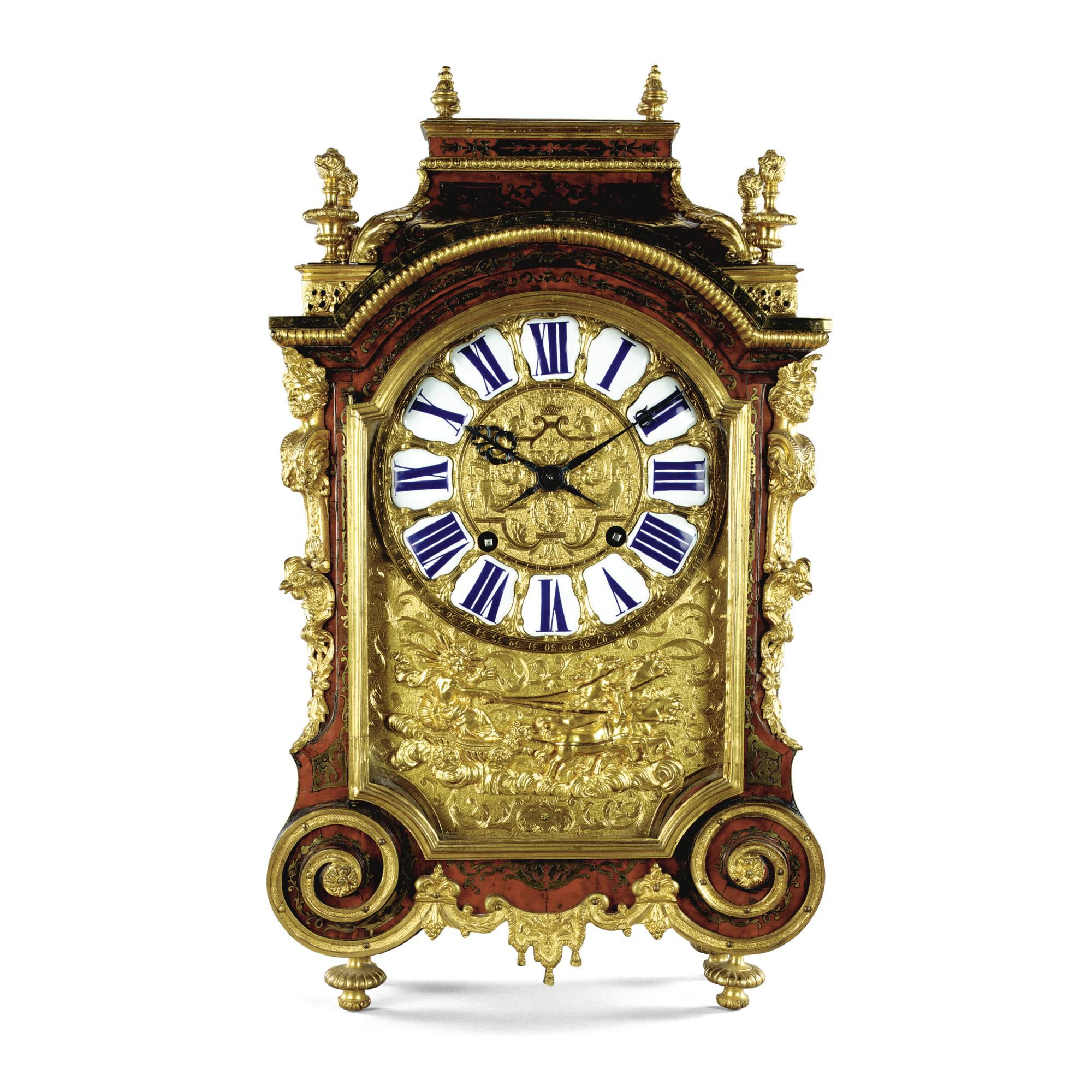 A tortoiseshell Ball Clock from the end of the 17th century and made ...
