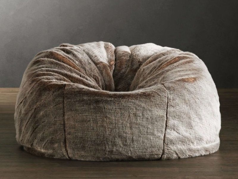How To Add Warmth To Your Ski Lodge This Winter Fur Bean Bag