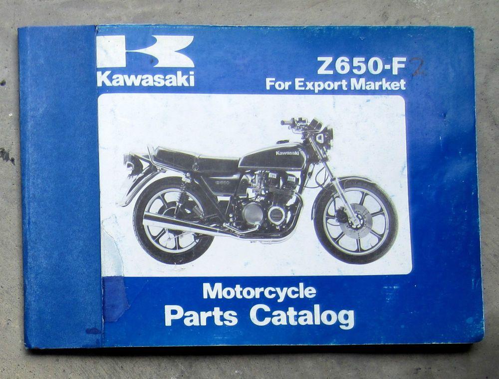 kawasaki z650 1980 workshop parts list manual for kz 650 service repair  restore #kawasaki