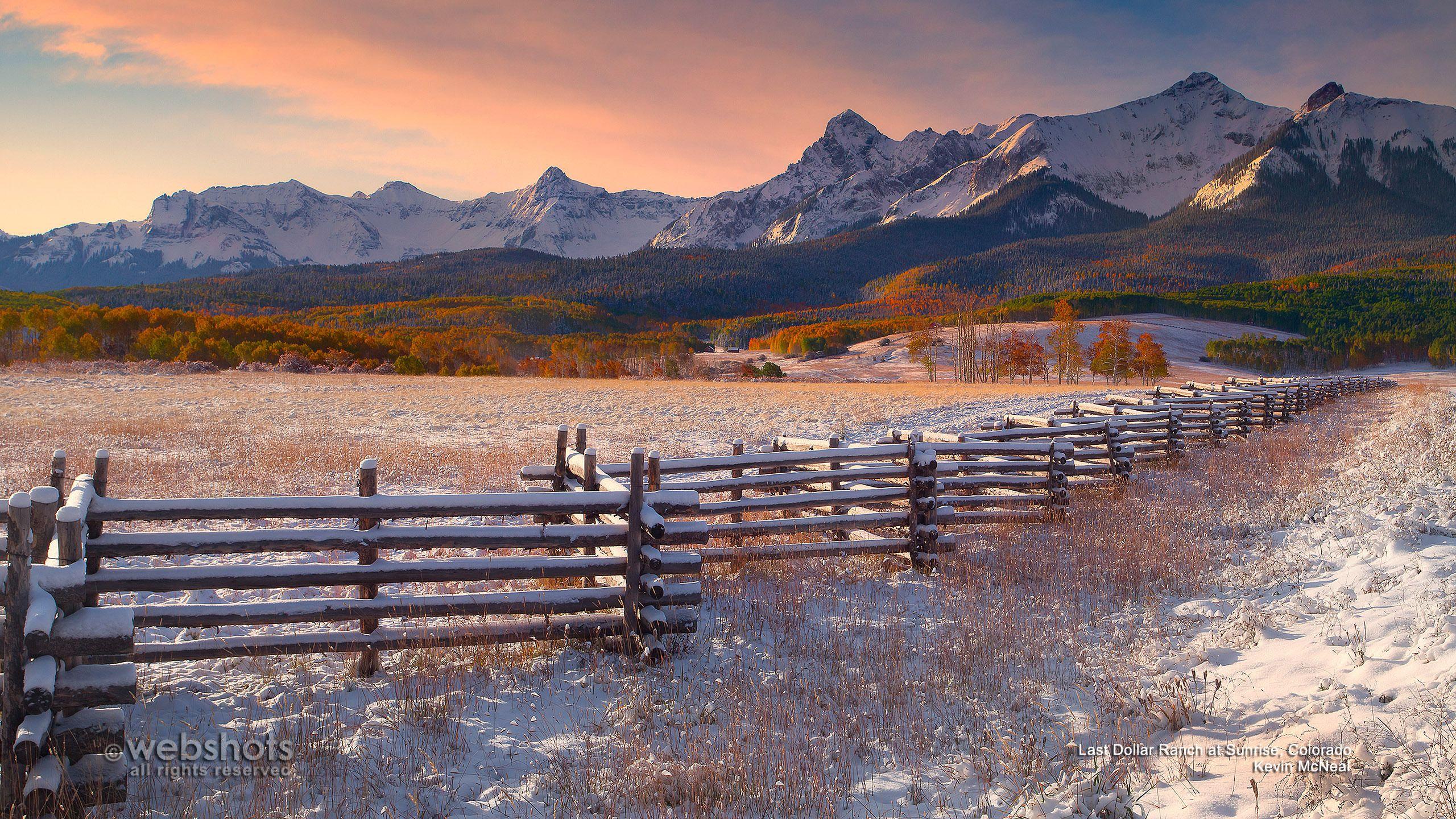 Today's Wallpaper: Last Dollar Ranch at Sunrise, Colorado