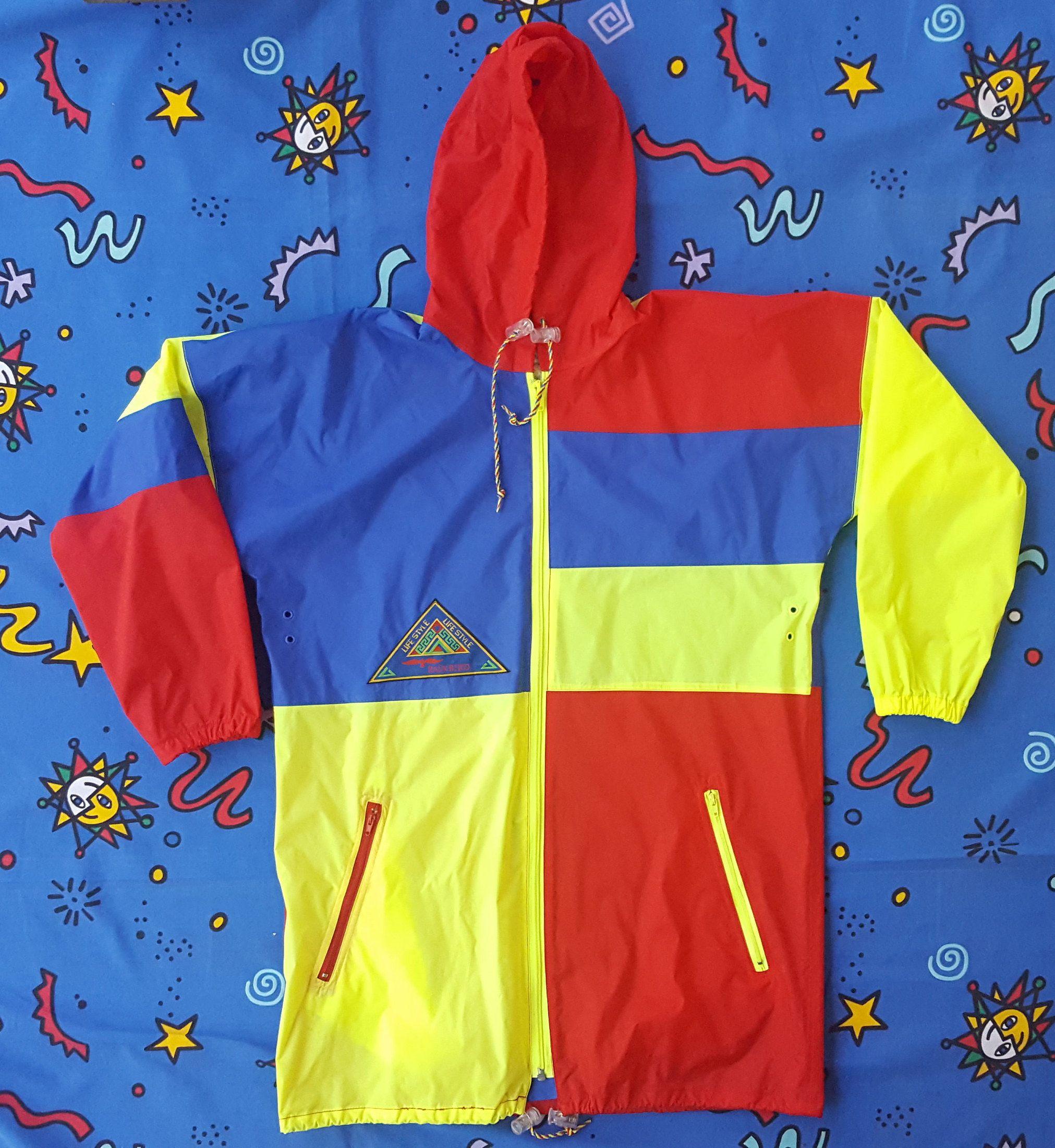 44cb011a3 Vintage 90s Colour Block Rain Coat, Rainbird Jacket, Spray Jacket, Club  Kid, Rave Jacket, Rain Jacket, Festival Gear, Size Medium, Rad by NEONPOINT  on Etsy