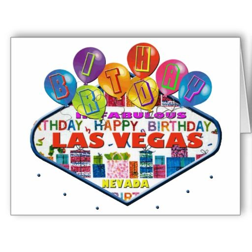 BIRTHDAY IN FABULOUS LAS VEGAS CARD