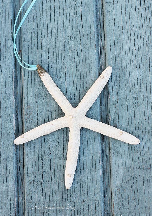 I'm making these!! Beach House Living: Starfish Ornament DIY Tutorial Using Bead Caps