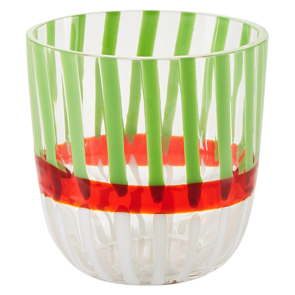 Diversi Tumbler Red Green White Tumbler Wine Glass Red