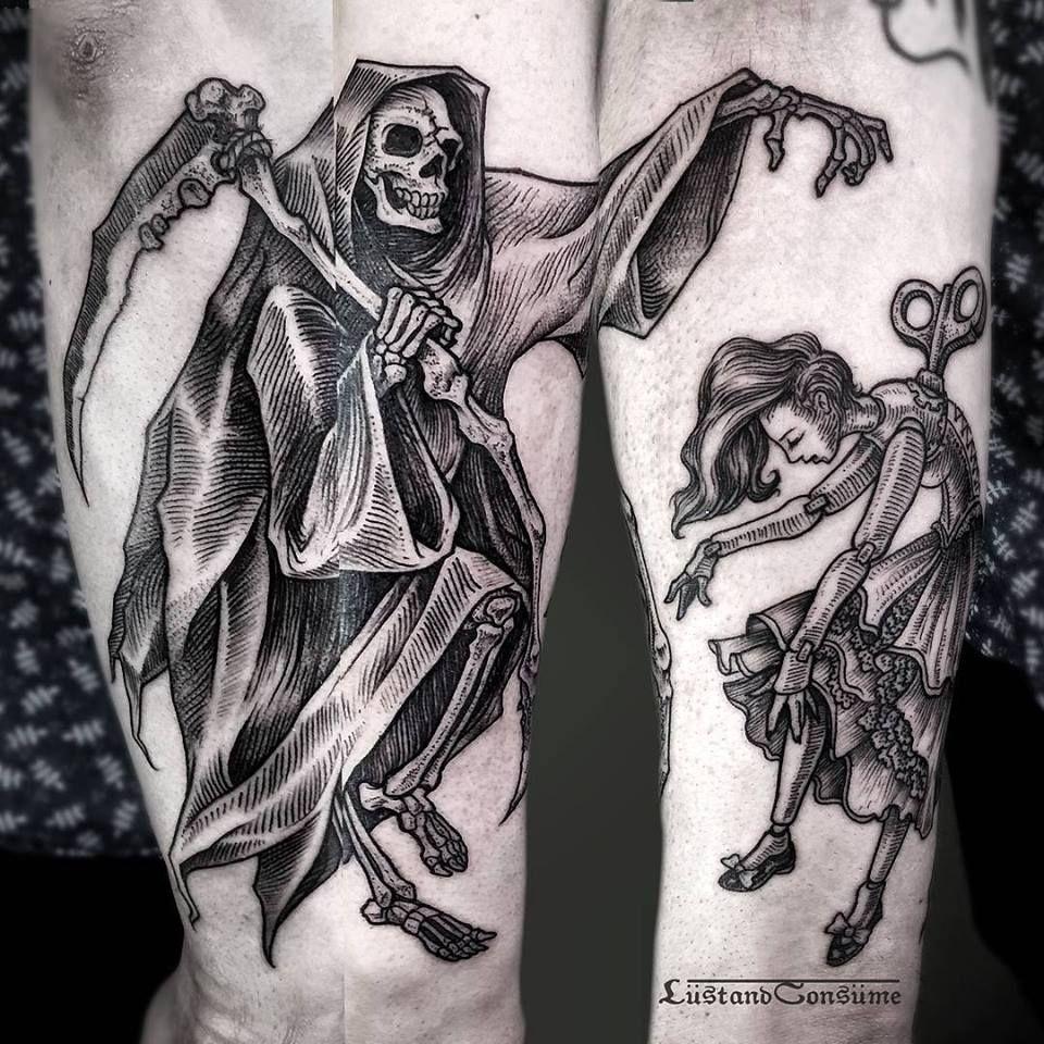grim reaper tattoo by phil tworavens t tu iu pinterest. Black Bedroom Furniture Sets. Home Design Ideas