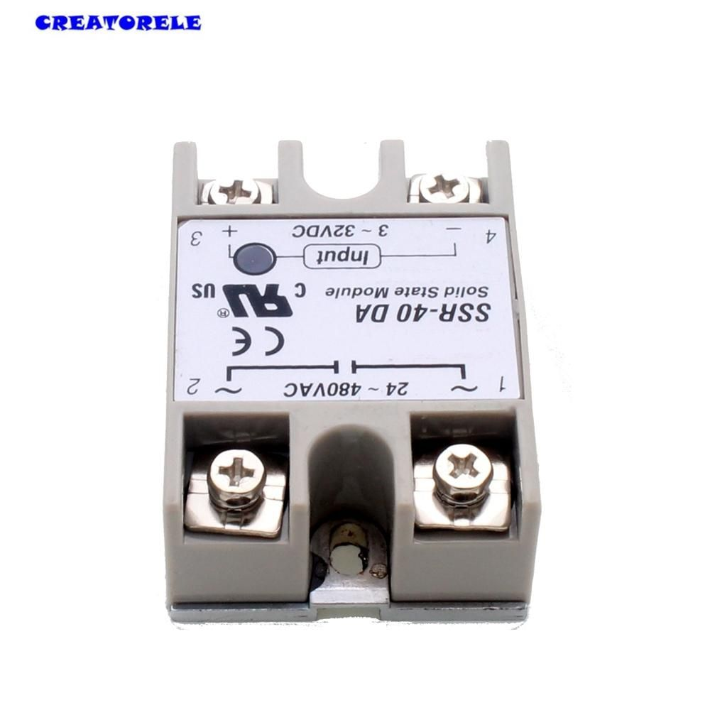 Hot New Temperature Control Solid State Timer Relay Ssr 40da 40a 3 Electrical Getting 32v Dc