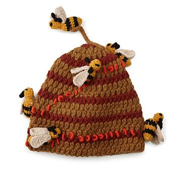 Look what I found at UncommonGoods: Hand Crocheted Bee Hive Hat for $58.00