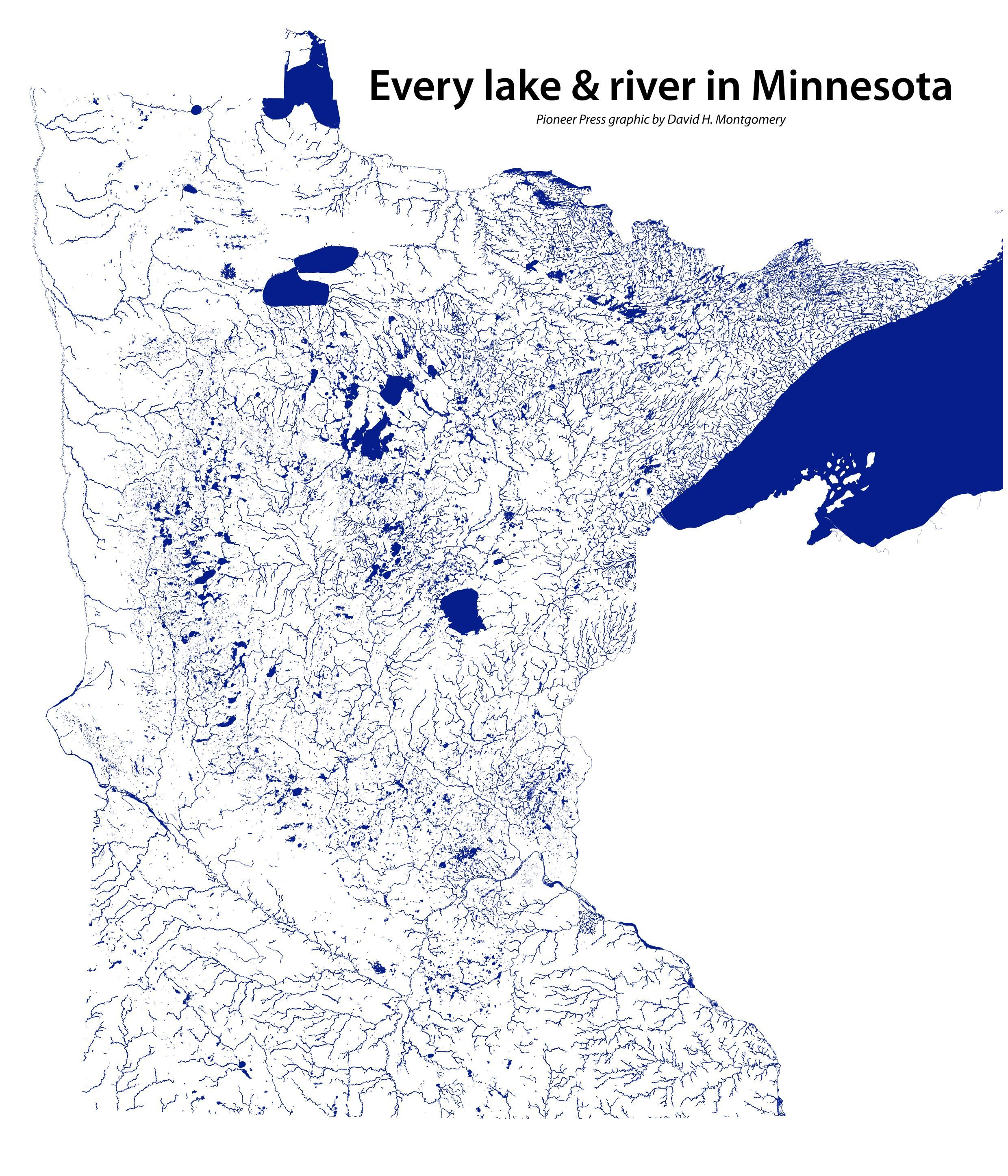 Every Lake Amp River In Minnesota