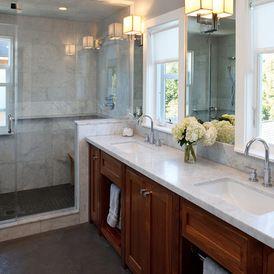 traditional bathroomcamello, inc. | craftsman bathroom