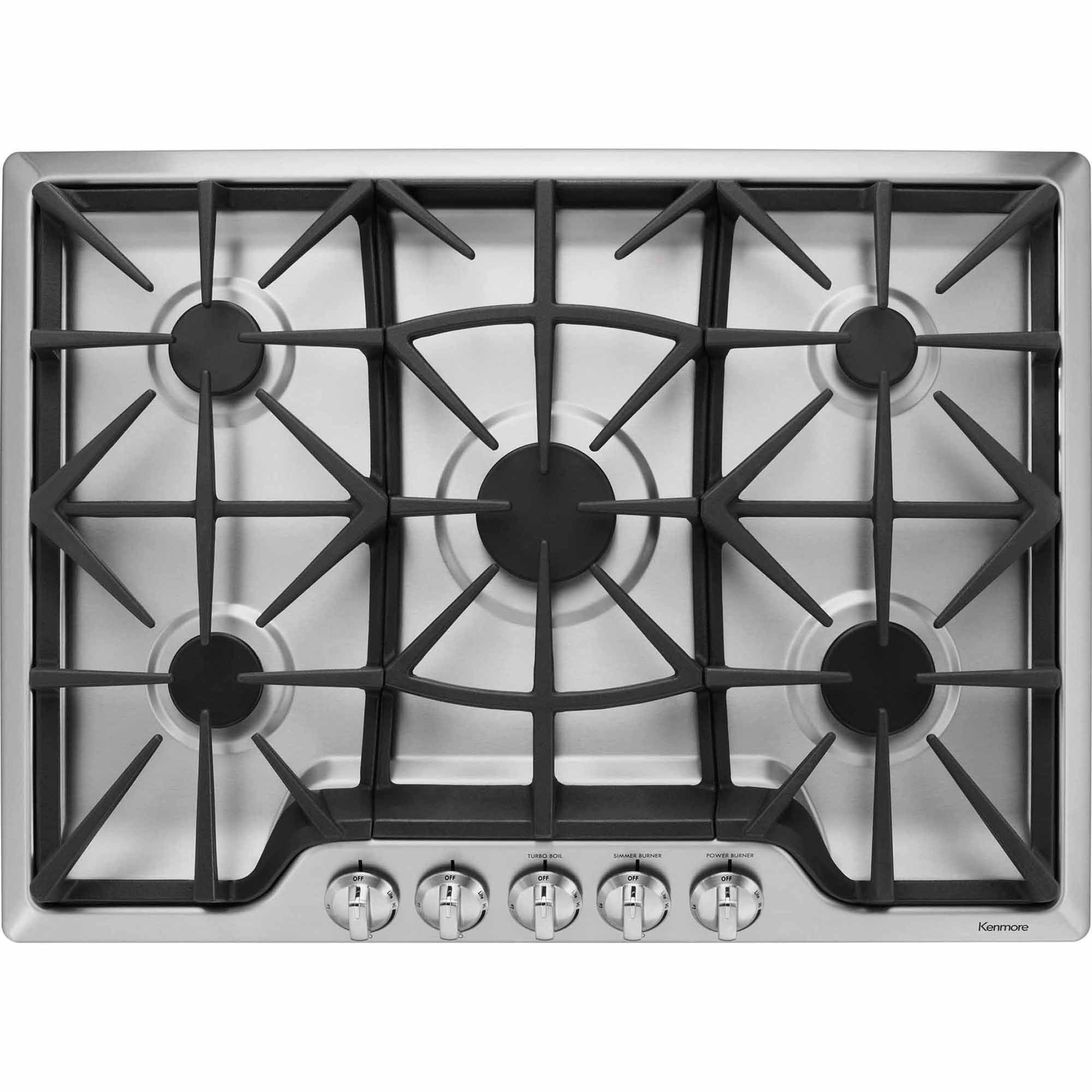 Kenmore 32683 30 gas cooktop stainless steel stainless