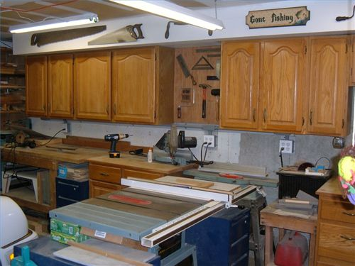 garage cabinets Using Kitchen Cabinets in Other Rooms | Chez Moi ...