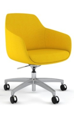 Ellie In Vibrant Yellow Vinyl Yellowdeskchair Yellowofficechair