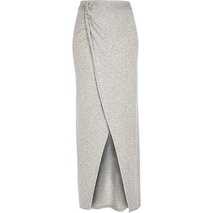 Grey marl knot front maxi skirt 12,00 €