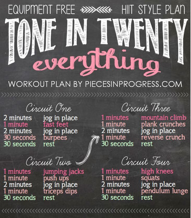 Tone In Twenty Workouts Pieces In Progresspieces In Progress Workout Regimen Bridal Workout Wedding Workout