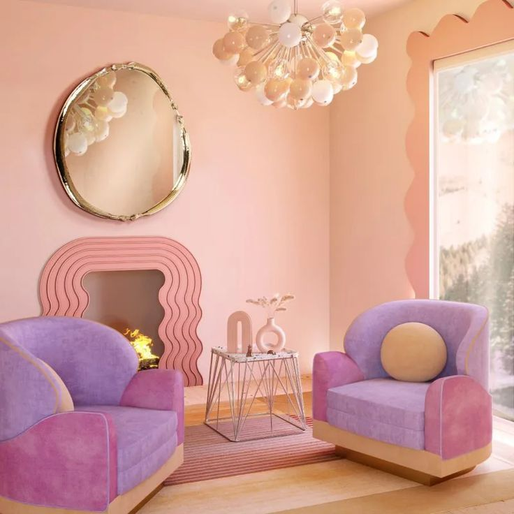 Bold Curves and Pastel Colors