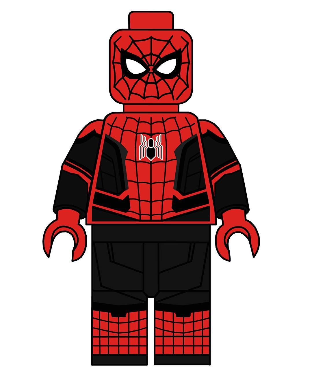 Spider Suit Man Home Far Lego Minifigurelego Custom From K1TJFlc