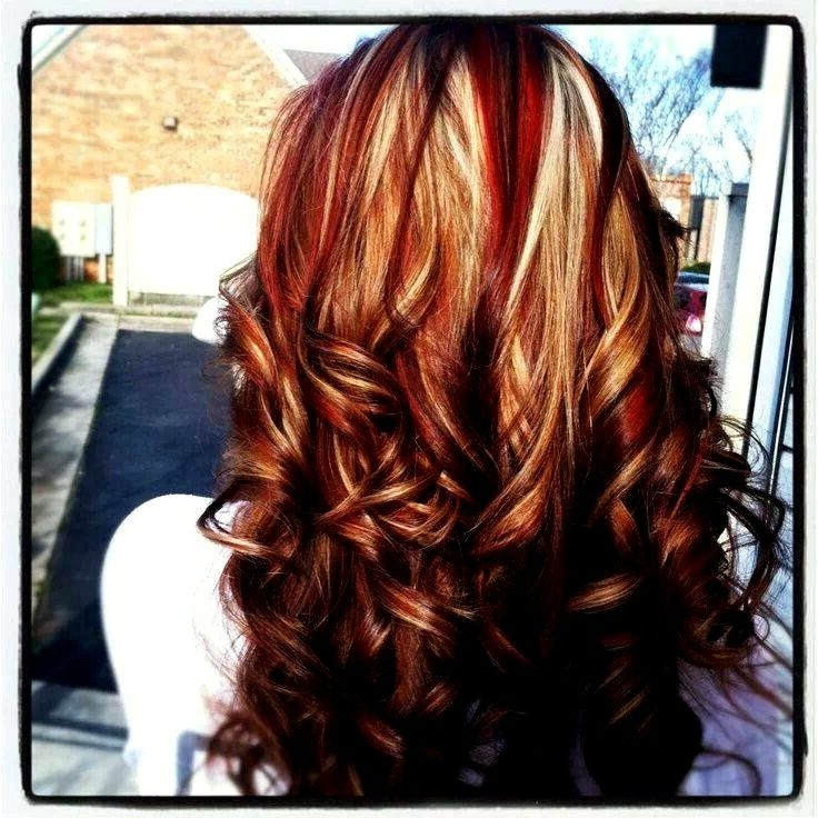 Red Hairstyles With Blonde Highlights Have Some Variations Of The