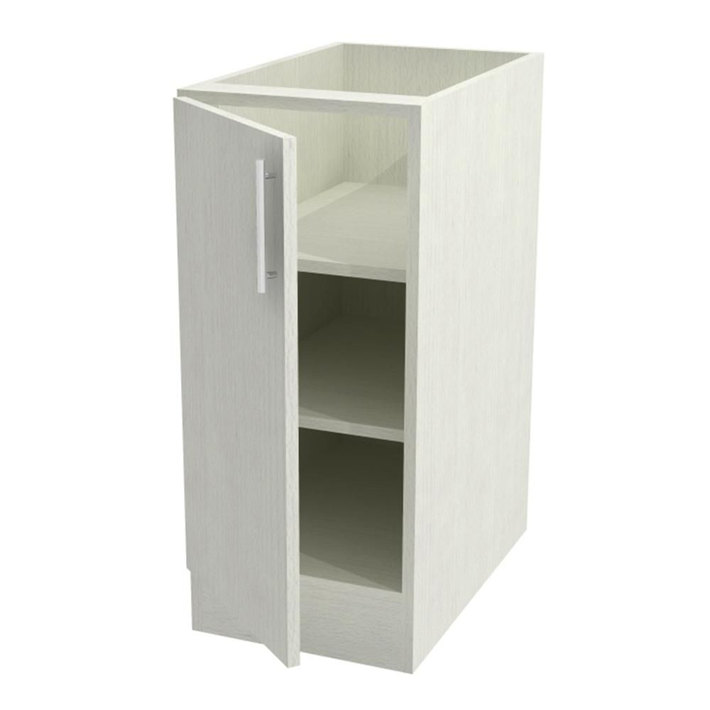 Assembled 18x34.5x24 in. Miami Island Outdoor Base Cabinet with Full Height Doors Left in Radiant White