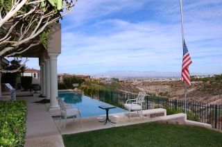 Gorgeous Seven Hills estate situated on the 16th hole of Rio Secco Golf Course on a hill that maximizes the incredible views.