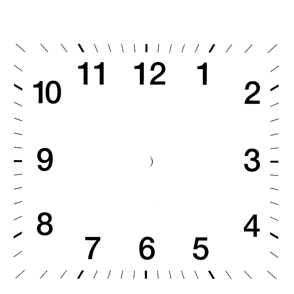 Blank Clock Worksheets