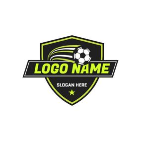 White And Black Football Logo Design Football Logo Design Online Logo Design Football Logo Maker