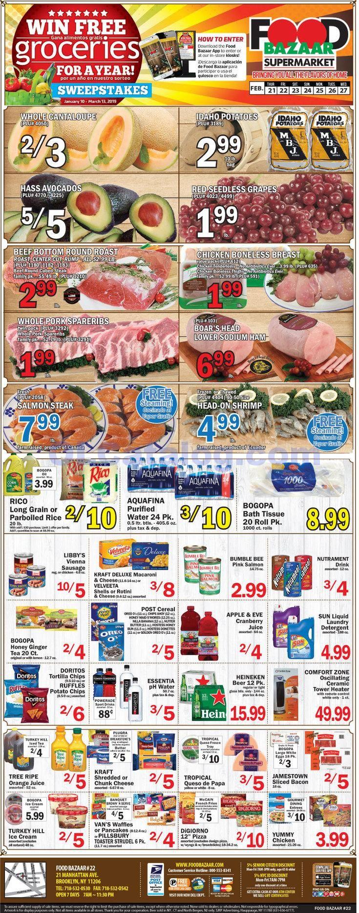 Food bazaar weekly ad february 21 27 2019 do you know