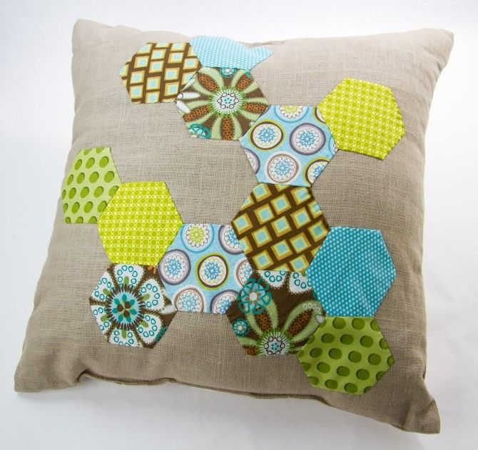 Another hexagon idea for a memory quilt