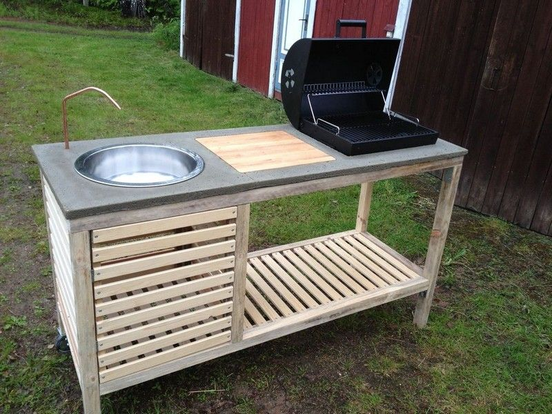 Amazing Diy Idea To Make Your Own Portable Outdoor Kitchen | Diy