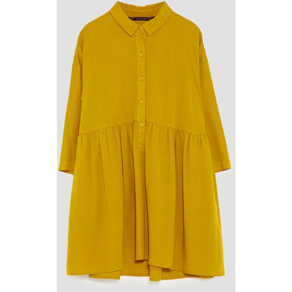 0d428e71 RUFFLED SHIRT DRESS - NEW IN-TRF | ZARA Ukraine ❤ liked on Polyvore  featuring dresses, flutter-sleeve dresses, t-shirt dresses, long shirt dress,  ruffle ...
