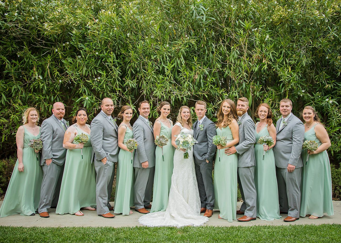 Bridal Party Grey And Mint Colors Estancia La Jolla Wedding Kim C Villa Photography San Go Photographer