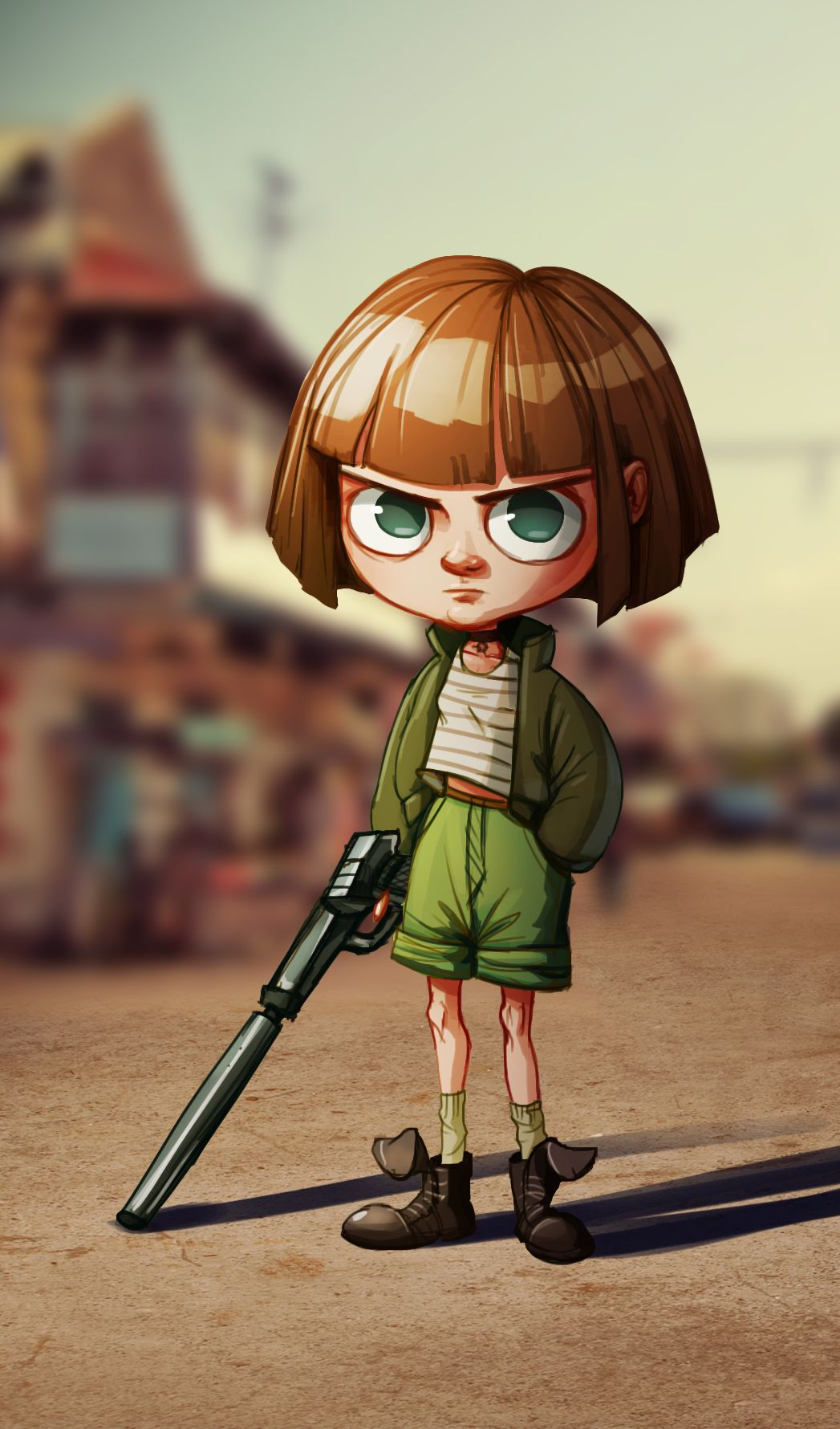 A little tribute to Mathilda from Luc Besson's Leon, which is a great movie ...