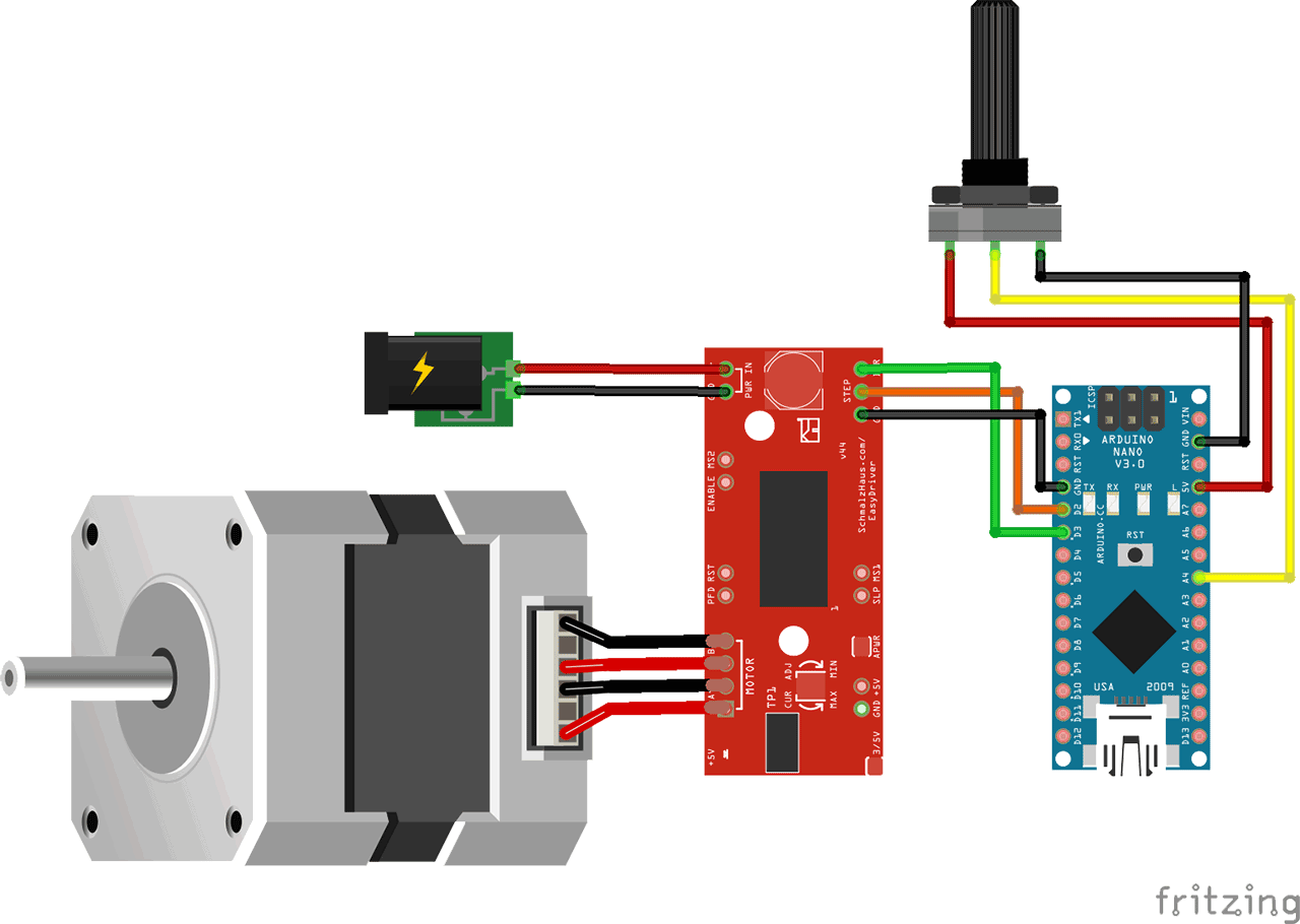 Overview sometimes keeping things simple is best in this for Arduino controlled stepper motor