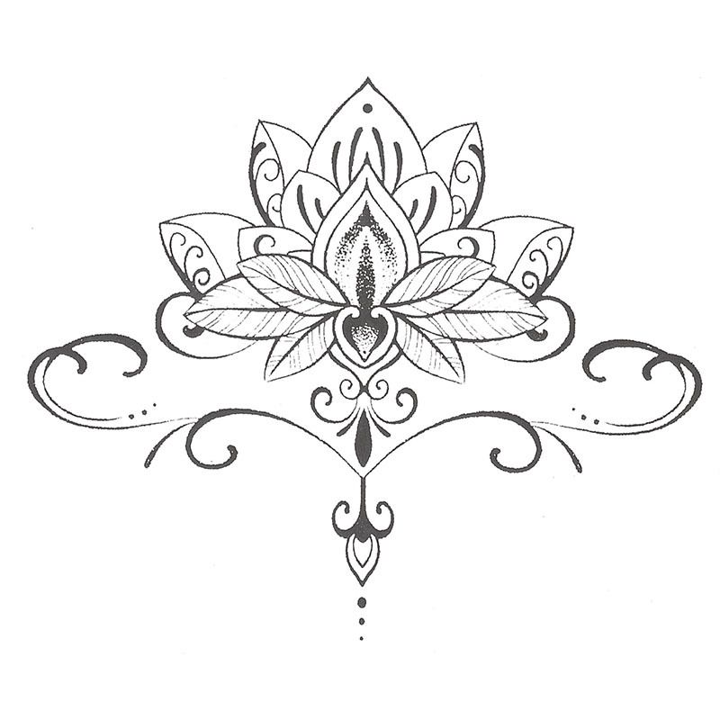 Afficher limage dorigine symboles pinterest buddha lotus waterproof temporary tattoo stickers cute buddha lotus flowers large design body art sex products make up styling tools mehr mightylinksfo