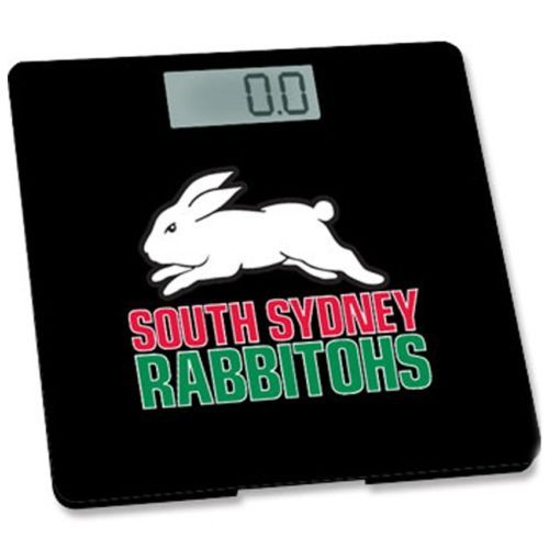 SOUTH SYDNEY RABBITOHS OFFICIAL NRL SLIM ELECTRONIC BATHROOM SCALE ($79.95rrp)