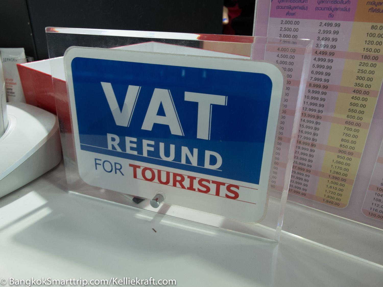 Temukan Logo VAT Refund Maka Kamu Bisa Cashback/Foto: Bangkok smarttrip.com