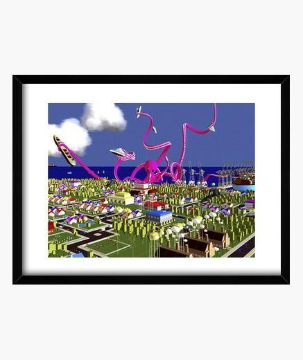 Cuadro Invasión 02 Cuadro con marco horizontal (4:3) 49,00 ...
