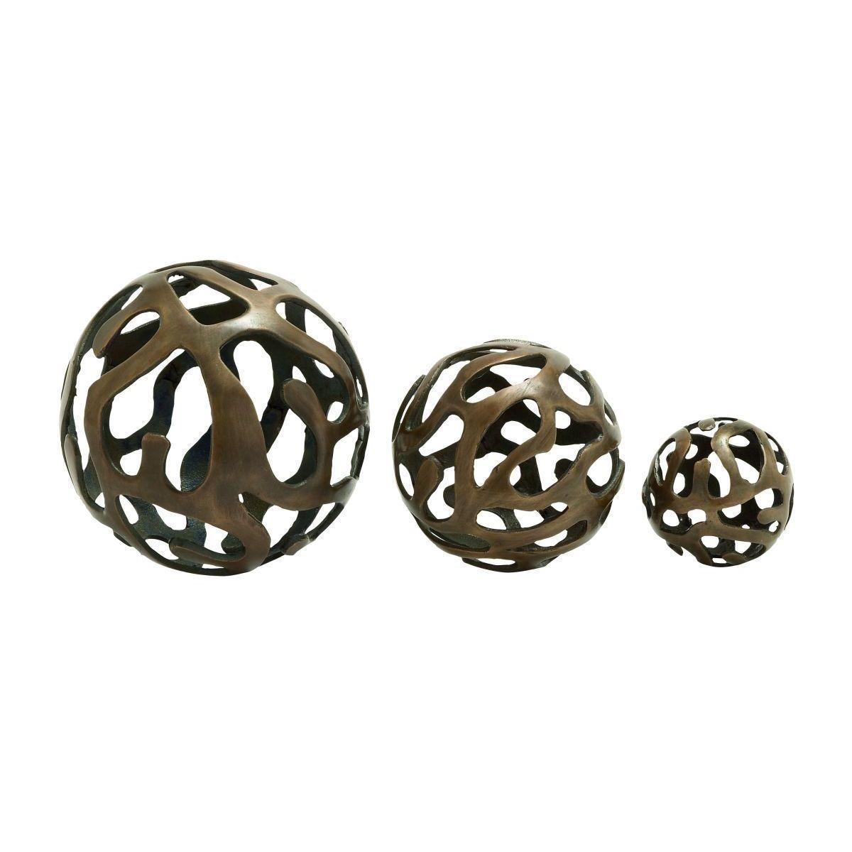 Silver Decorative Balls Studio 350 Aluminum Decor Balls Set Of 3 Alum Decor Ball S3 8