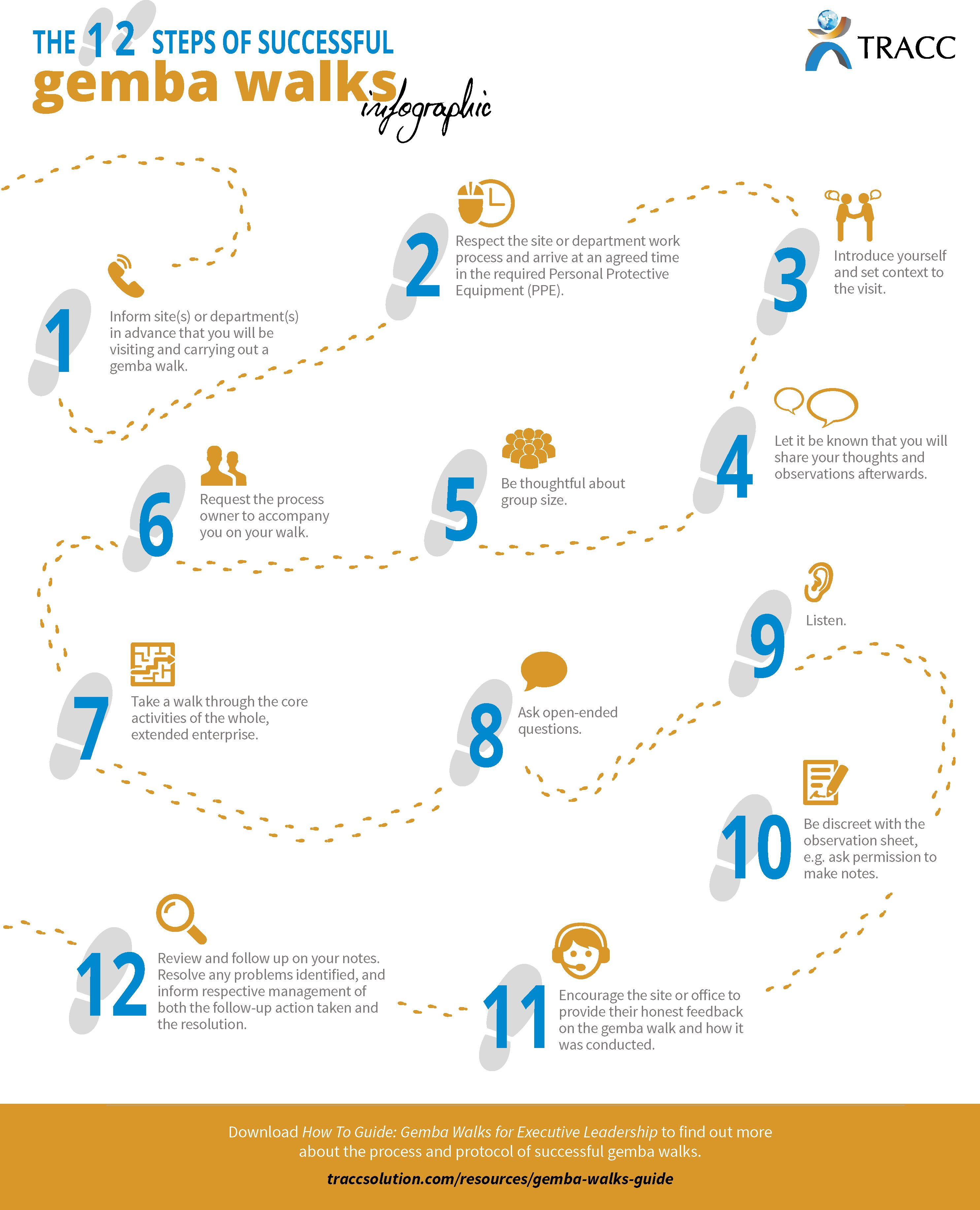 The 12 Steps Of Successful Gemba Walks Infographic