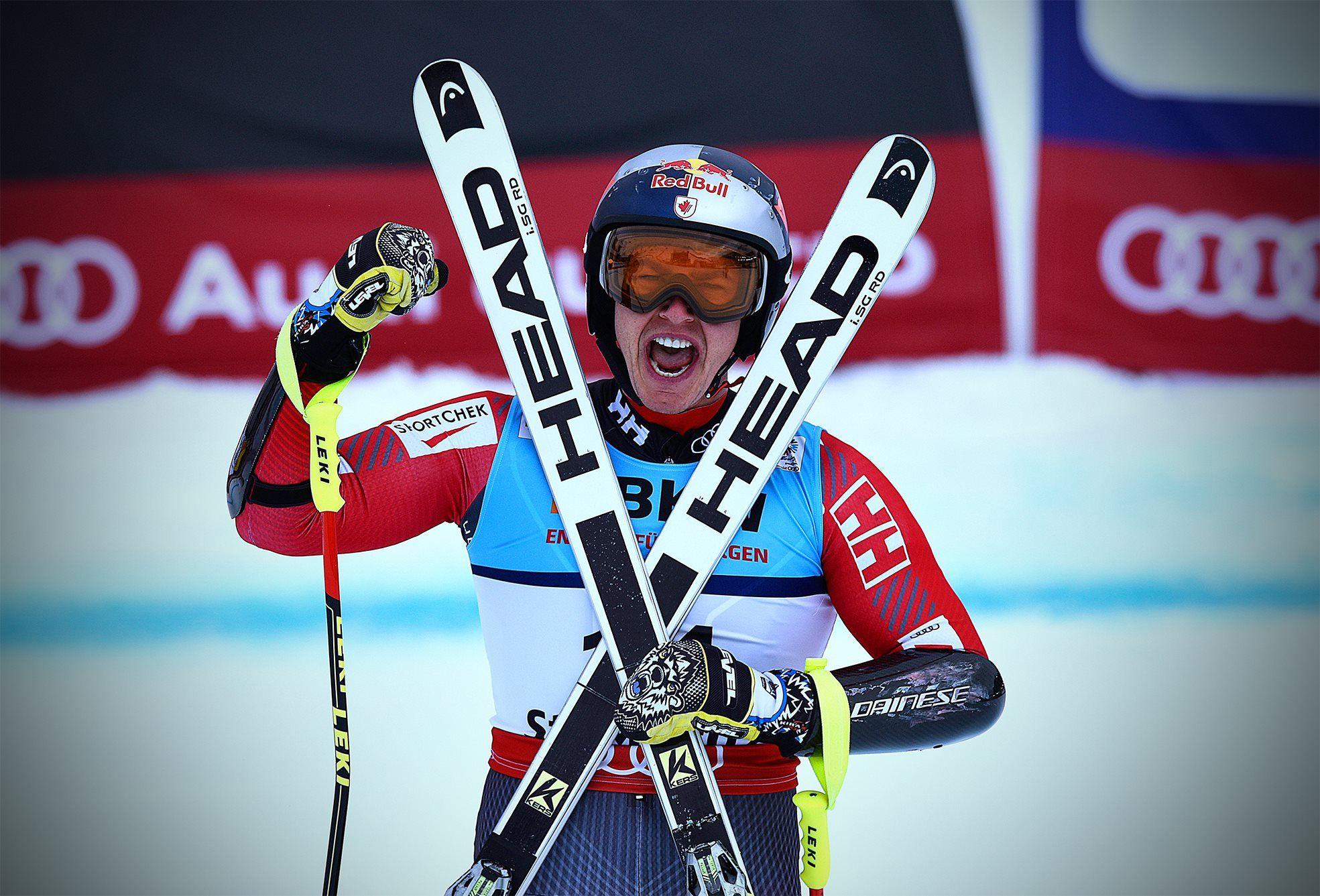 Erik Guay se cuelga el oro en el supergigante de los Mundiales de Saint Moritz.