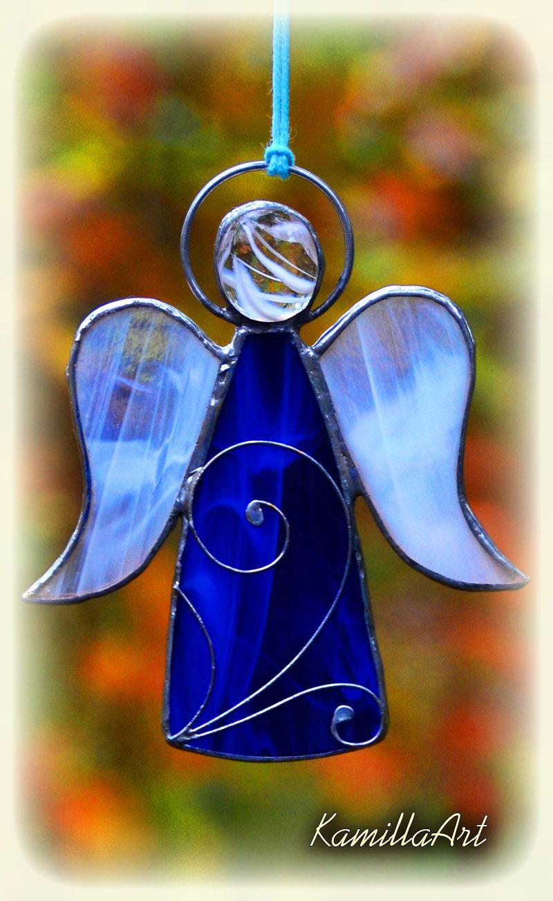 Stained glass angel, angel suncatcher, Baptism gift, angel gift ...